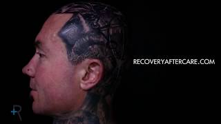 Arron Raw Tattooing using Recovery Stencil Lock