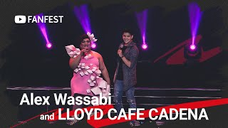 Alex Wassabi and LLOYD CAFE CADENA @ YouTube FanFest Manila 2019