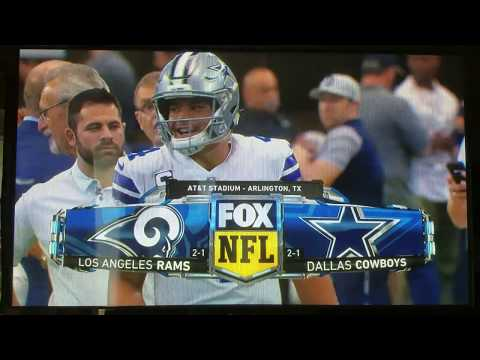 """NFL on Fox """"Rams vs. Cowboys"""" cold open October 1, 2017"""