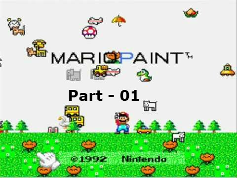 Let's Play Mario Paint - Part 01: Messing Around