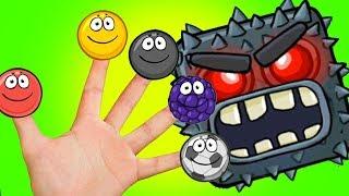 Красный шар и все боссы | Детская песенка про пять пальчиков | Лучшие мультики для мальчиков