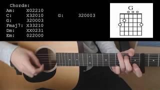 Sam Smith - Fire On Fire EASY Guitar Tutorial With Chords / Lyrics