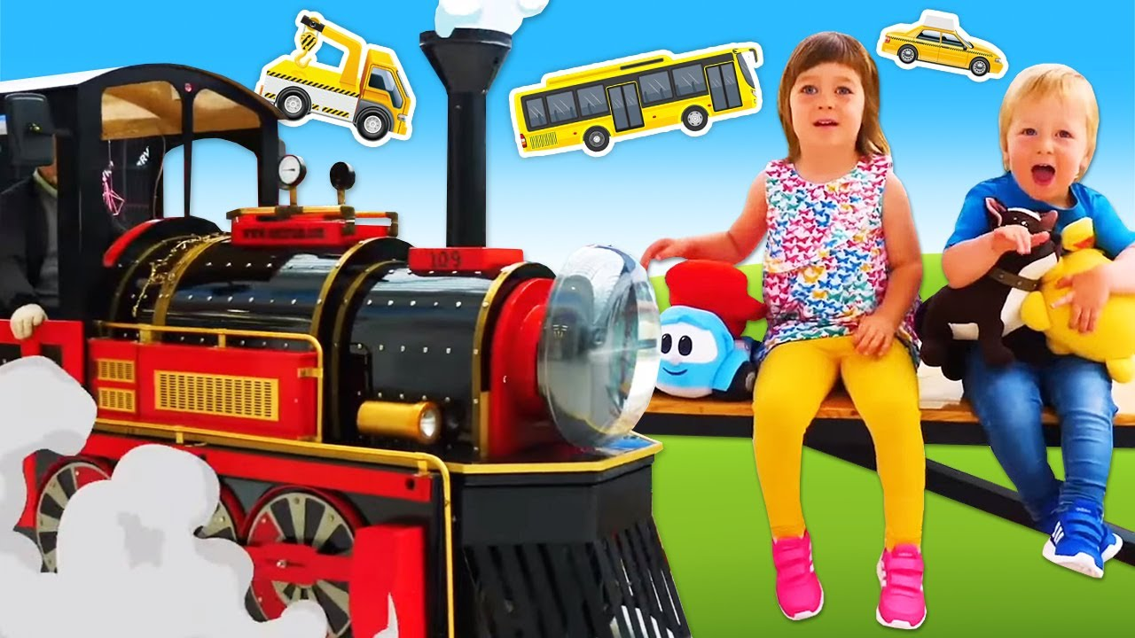 The cars song for kids. Super simple songs for babies. The train kids' song.