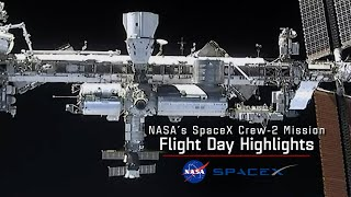 NASA's SpaceX Crew-2 Flight Day 2 Highlights