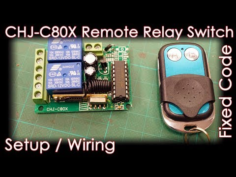 C80X 2CH Relay RF Remote Switch [Control DC motor] Fixed code