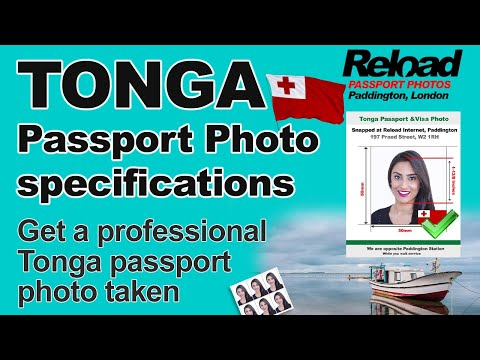 Tonga Passport Photo and Visa Photo snapped in Paddington, London