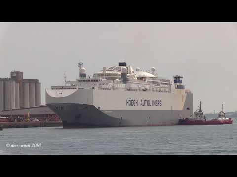 Höegh Autoliners ' Höegh America' Southampton Docks arrival