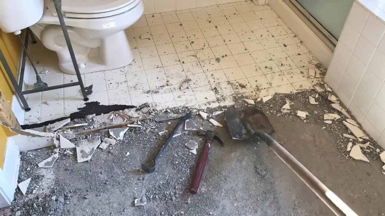 How to remove tile and backer board from your floor youtube how to remove tile and backer board from your floor dailygadgetfo Images