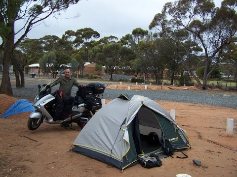 Round Australia scooter ride 45,000 kms on a SYM/Bolwell 250