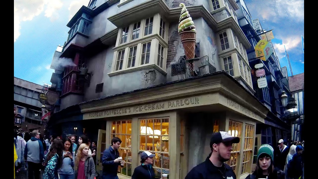 diagon alley shops at the wizarding world of harry potter universal studios orlando hd pov. Black Bedroom Furniture Sets. Home Design Ideas
