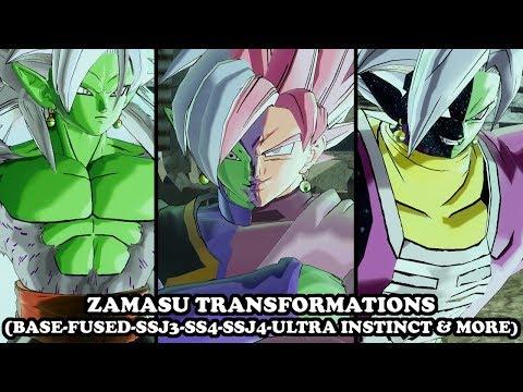 Zamasu Transformations (FUSED-SSJ3-SSJ4-SSJ5-ULTRA INSTINCT-OOZARU-MANGA & MORE) Dragon Ball XV2