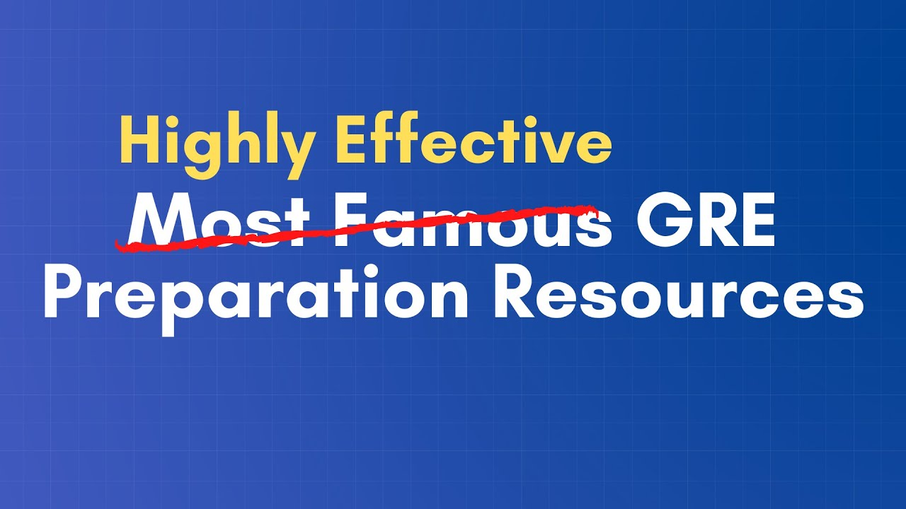 Top 5 Highly Effective (forget about famous) GRE Preparation Resources | GRE | GMAT | CAT