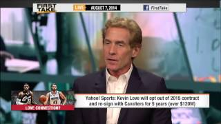 First Take - Kevin Love to the Cleveland Cavaliers