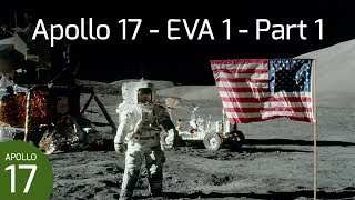 Apollo 17 EVA 1 - Flag Deployment & ALSEP Off-Load