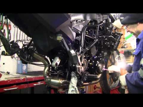 bmw f 650 gs repair strip and clean part 9