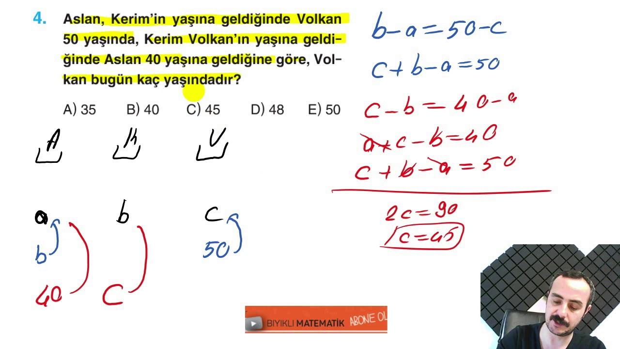 Yaş Problemleri 2 (Test 15)