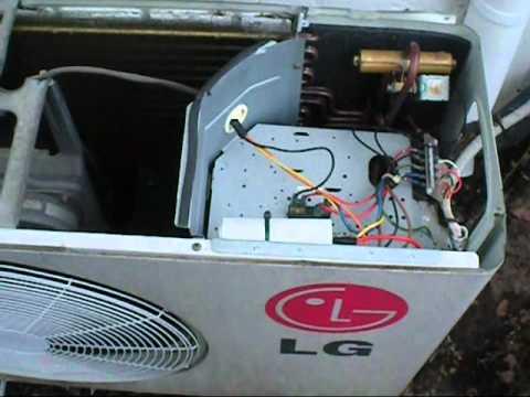 ac compressor wiring diagram reverse light lg run cap replacement - youtube