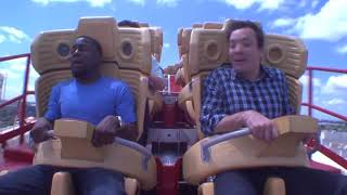 Jimmy and Kevin Hart Ride a Roller Coaster7