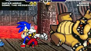 Super Fire Mario & Sonic vs Kamek and Bowser MUGEN Battle Part 2 + Extra Battle!!!