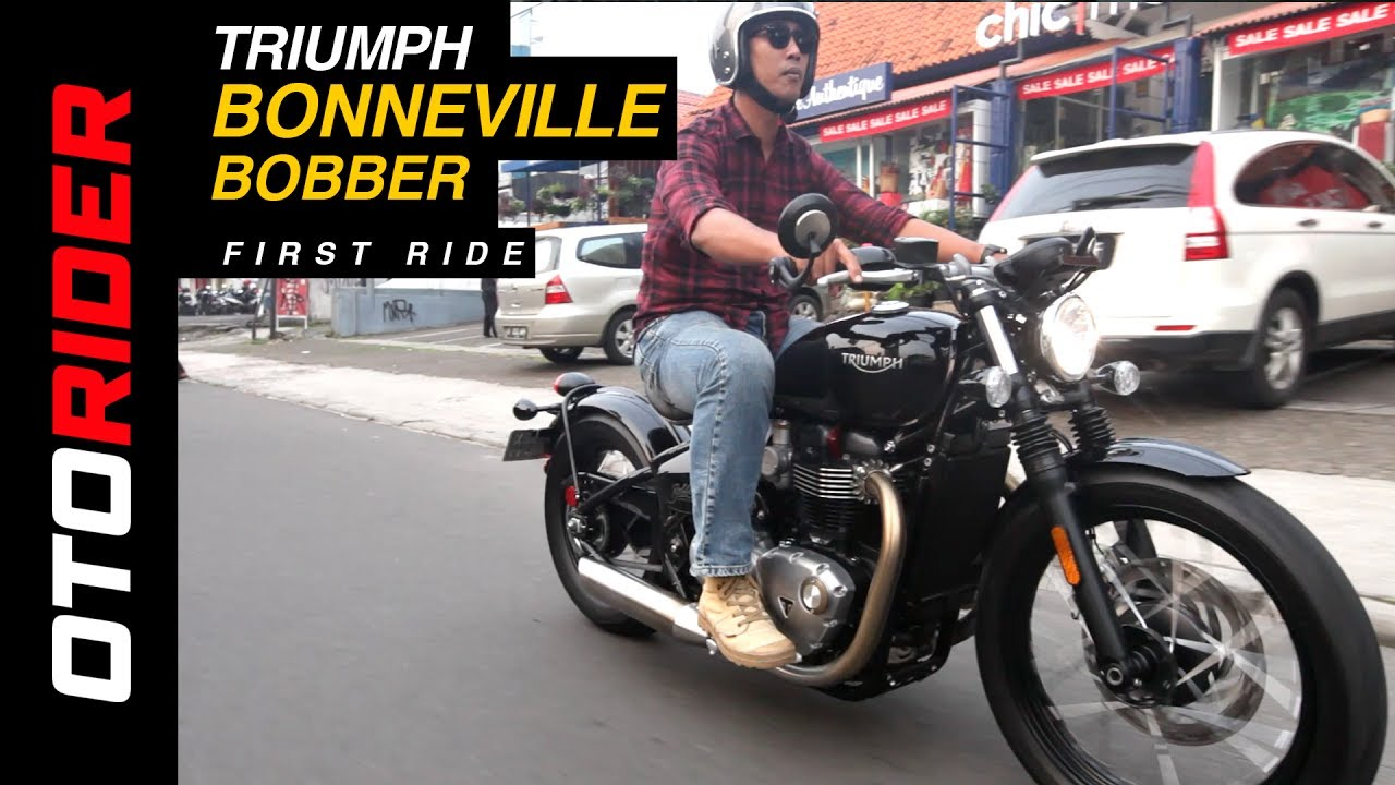 Triumph Bonneville Bobber 2017 First Ride Review - Indonesia | OtoRider | Supported by GIIAS 2017
