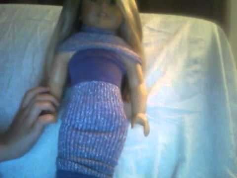 How to make american girl doll evening gown - YouTube