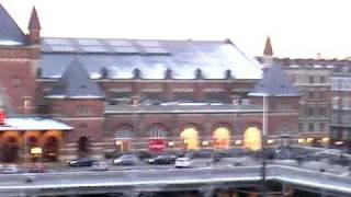 1月末。冬のデンマーク晴天の日の夕暮れ。ただただ綺麗。。。。。
