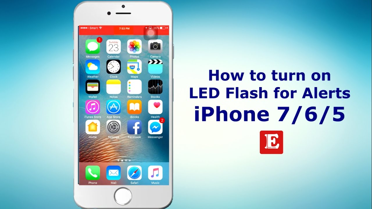 iphone flash notification how to turn on enable led flash for alerts in iphone 7 6 11852