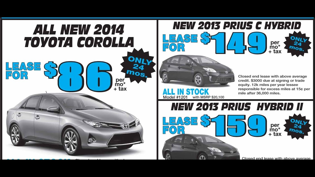 When Is The Best Time Of Year To Buy A Car Penny Saver Ad Car - Toyota prius lease deals los angeles