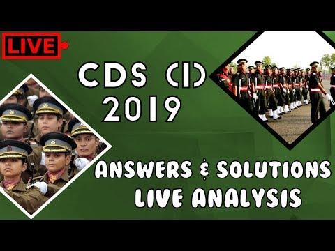 CDS 1 2019   English Answer Key   Live Analysis