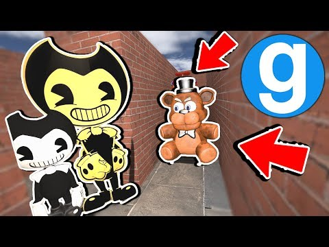Can Bendy Hide From The Evil FnaF Animatronic Plushies! Five Nights at Freddy's Garry's Mod Sandbox thumbnail