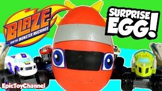 blaze and the monster machines surprise egg dino blaze monster truck surprise toys for kids
