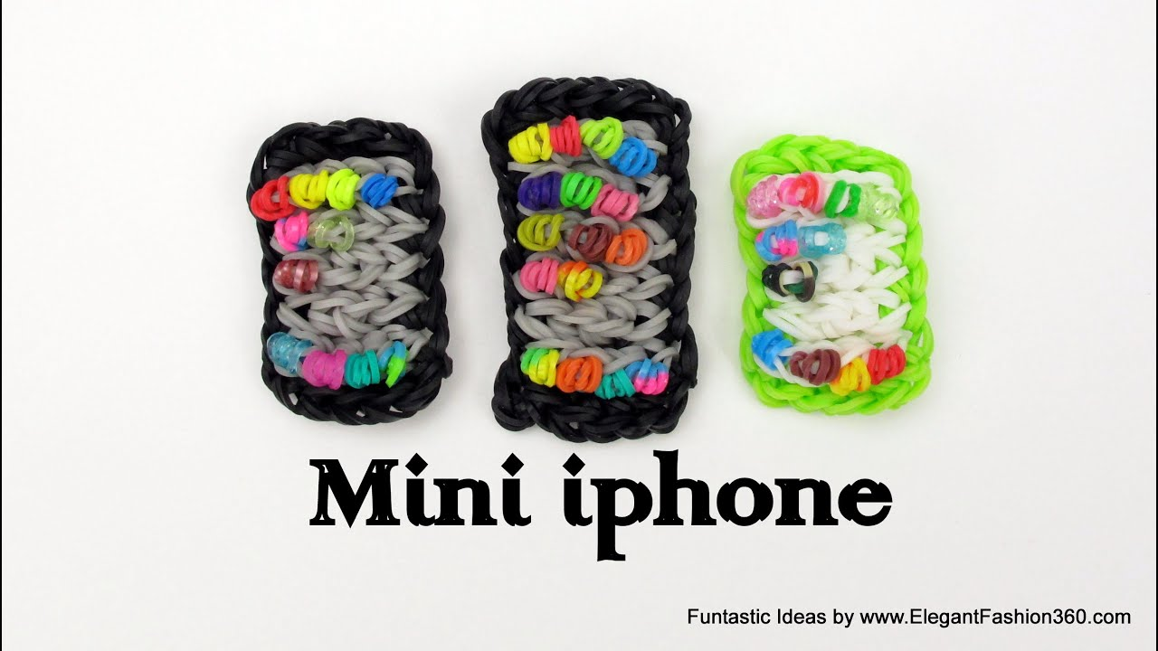 Rainbow Loom Mini Iphone Smart Phone Charm How To
