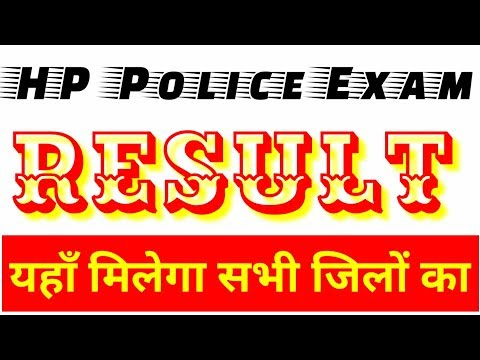 HP Police All District Result || HP Police Result 2019