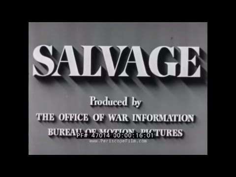WORLD WAR II  RUBBER & METAL SALVAGE & SCRAP DRIVE PROMOTION