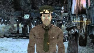 Fallout New Vegas Ending Yes Man Pushes General Off Hoover Dam