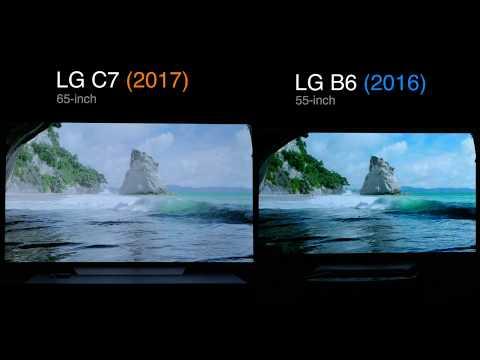 (Side by Side) 2017 LG C7 OLED VS. 2016 LG B6 OLED TV