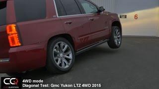 4WD TEST : 2015 Chevrolet Tahoe 4WD LTZ Diagonal and Locker test
