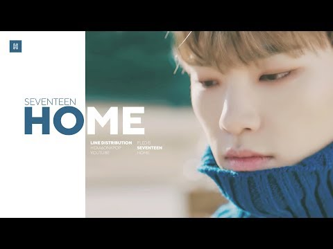 SEVENTEEN - Home Line Distribution (Color Coded)   세븐틴 - 홈