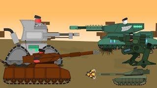 Мега сборник мультиков про танки + Новые серии - Мультики про танки