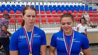 Олеся Ромасенко и Ирина Андреева- чемпионки России-2018 в гребле на каноэ-двойке 500 м