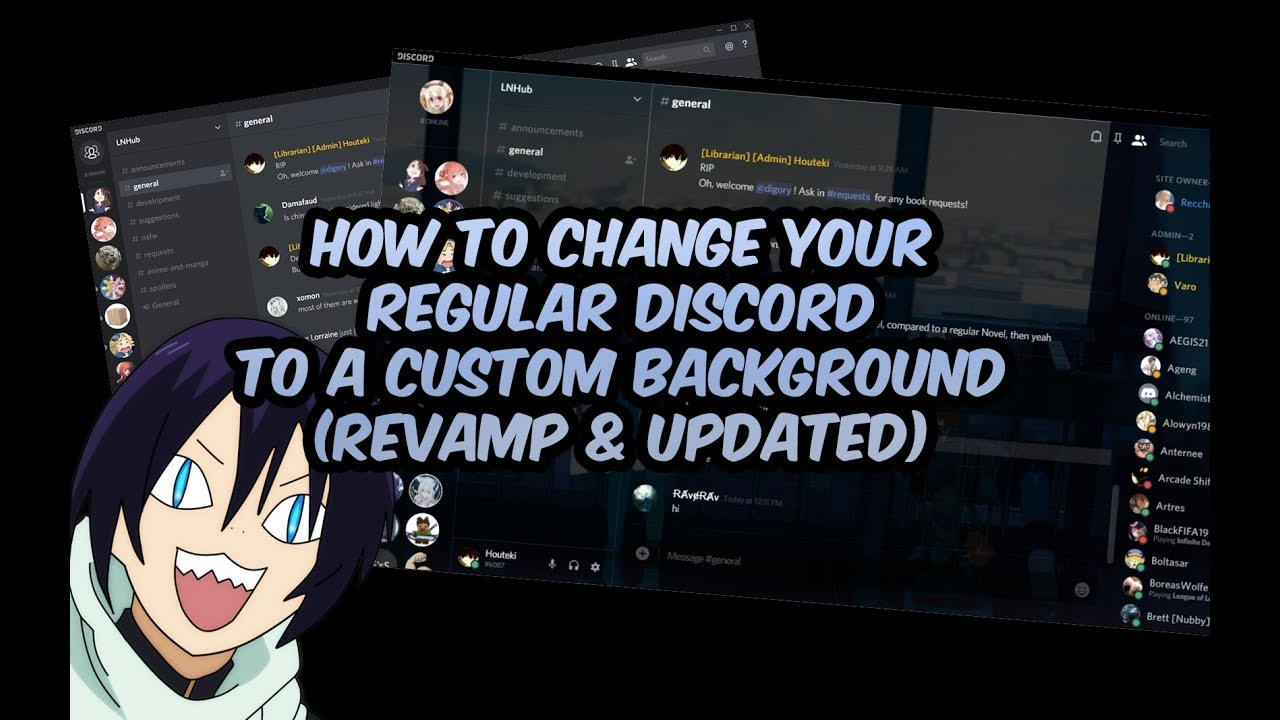 (Not Working Check Description) HOW TO CHANGE YOUR DISCORD BACKGROUND |  Tutorial