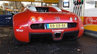 Bugatti Veyron 16.4 with Mansory Exhaust - Start up, Revs, Accelerating!