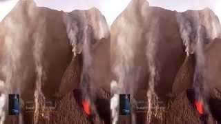 Stromboli - extreme flights over the volcano eruptions (3D). Docufiction Stromboli 3D project.