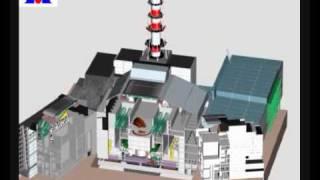 Авария реактора на Чернобыльской АЭС 3Д анимация(Трехмерная модель разрушения ядерного блока на Чернобыльской АЭС Chernobyl Exlusion Zone Nuclear reactor., 2009-03-15T10:26:00.000Z)