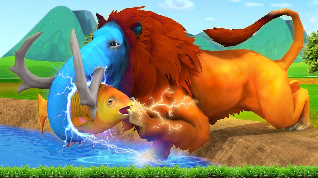 जादुई तालाब शेर और हाथी Magical Pond and Lion Elephant Story Kahani Hindi Kahaniya Hindi Stories