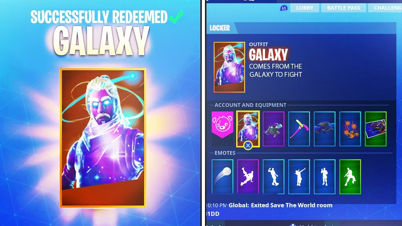 How to successfully unlock galaxy skin fortnite samsung free rare skin youtube - Fortnite galaxy skin free ...