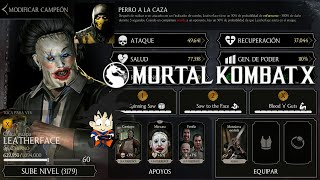 Mortal Kombat X Android Level Up / Subiendo de Nivel LeatherFace Chica Guapa