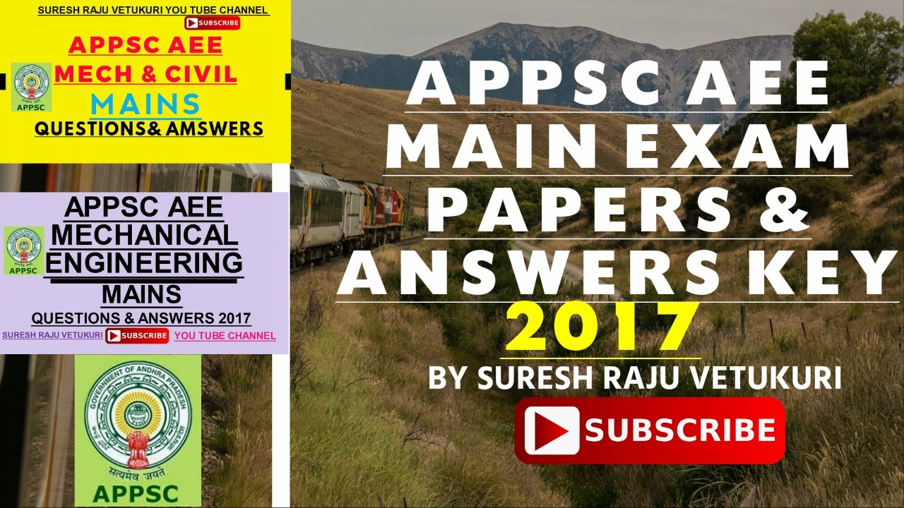 APPSC ALL AEE MAINS PAPERS AND ANSWER KEYS DESCRIPTION ...