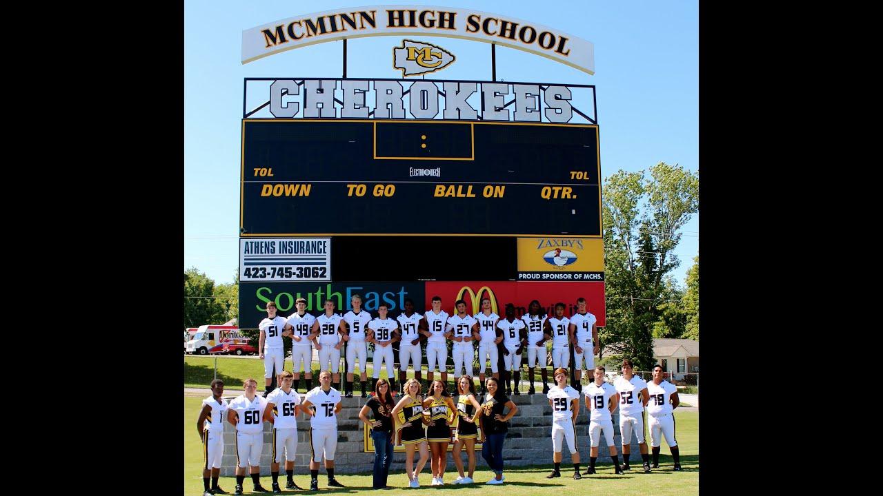 Mcminn County High School Senior Football Cherokees 2015