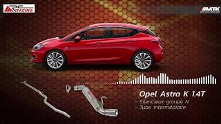 Silencieux d'échappement RC Racing - Opel Astra K 1.4T